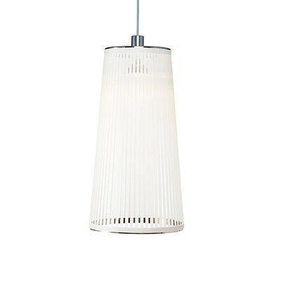Solis 1-Light Pendant Lamp Size: 24 H x 13 W x 9 D, Color: White