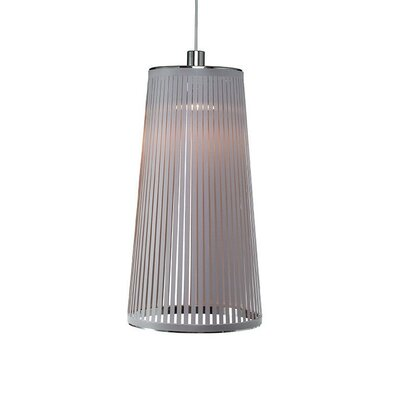 Solis 1-Light Mini Pendant Lamp Size: 24 H x 13 W x 9 D, Color: Silver