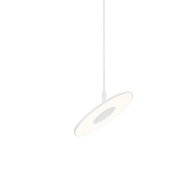 Circa 1-Light Mini Pendant Color: White, Size: Small