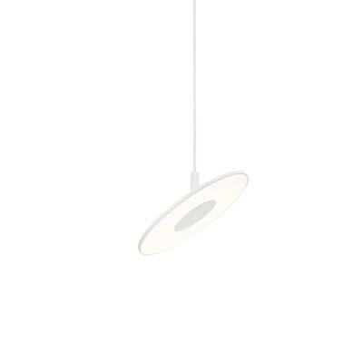Circa 1-Light Pendant Color: White, Size: Small