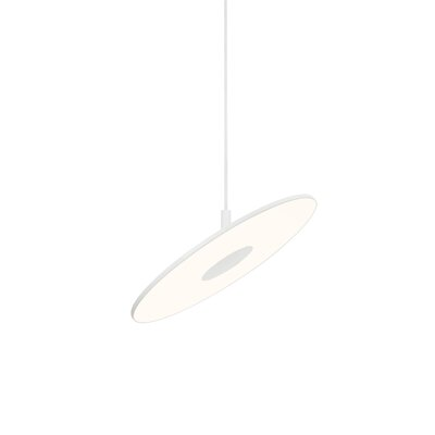 Circa 1-Light Mini Pendant Color: White, Size: Large