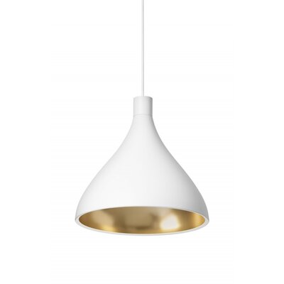 Swell 1-Light Pendant Finish: White, Size: Medium