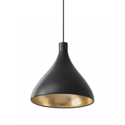 Swell 1-Light Mini Pendant Size: Medium, Finish: Black