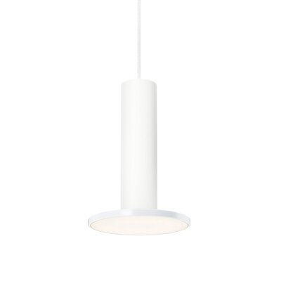 Cielo 1-Light Mini Pendant Color: White, Cord Color: White