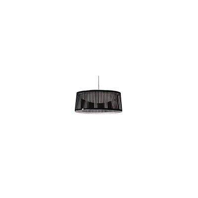 Solis 1-Light Drum Pendant Shade Color: Black, Size: 24 Diameter