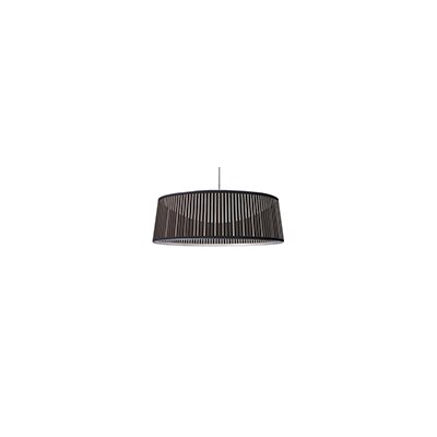 Solis 1-Light Drum Pendant Shade Color: Brown, Size: 36 DIameter