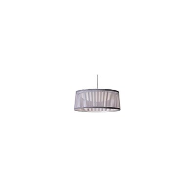 Solis 1-Light Drum Pendant Shade Color: Silver, Size: 24 Diameter