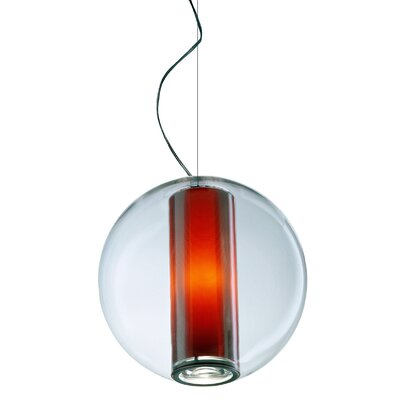 Bel Occhio 1-Light Globe Pendant Color: Orange