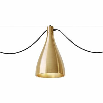 Swell 1-Light Mini Pendant Size: Narrow, Finish: Brass