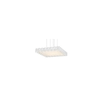 Grid LED Geometric Pendant Shade Color: Frosted