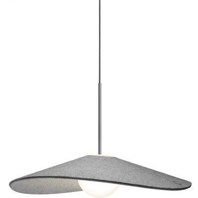 Bola Felt LED 1-Light Inverted Pendant Size: 6 H x 24 W x24 D
