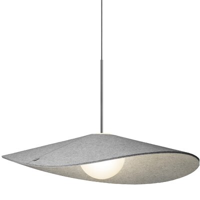 Bola Felt LED 1-Light Inverted Pendant Size: 8 H x 32 W x 32 D