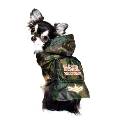 Major Trouble Rain Slicker Dog Raincoat