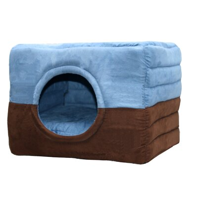Safe House 2 in 1 Dog and Cat Bed Color: Blue