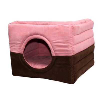 Safe House 2 in 1 Dog and Cat Bed Color: Pink