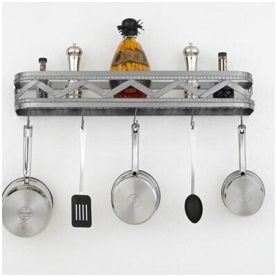 Sonoma Wall Mounted Pot Rack Accent Finish: Gold Accents, Copper Insert: Yes, Base Finish: Metallic Copper