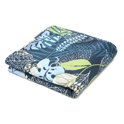Tropical Leaves Cotton Throw