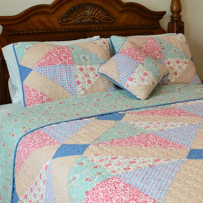 Angie Patchwork Reversible Quilt-Decorative Pillow