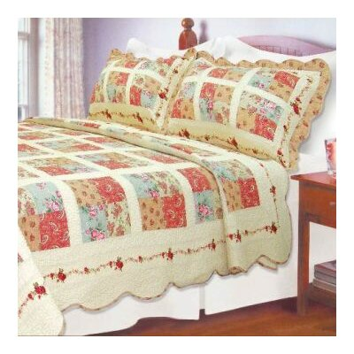 Athens Square Quilt Size: King