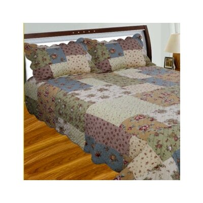 Patchwork Square Quilt Size: Queen