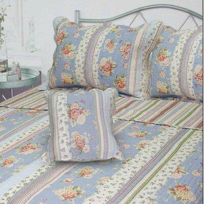 Berkely Floral Stripe Quilt Size: Queen