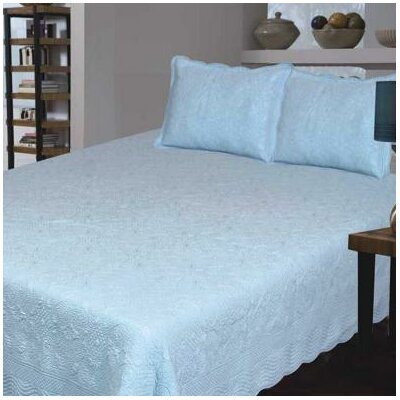 J&J Bedding Bouquet Matelasse Collection - Size: King, Color: Blue at Sears.com