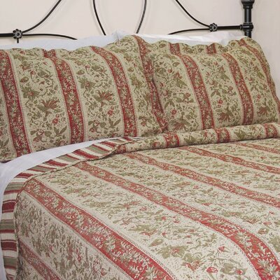 Cary Floral Stripe Quilt Collection