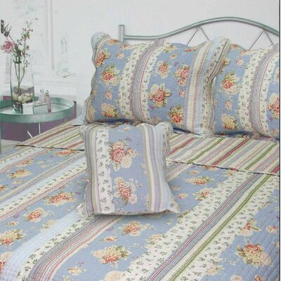 Berkely Floral Stripe Quilt Collection