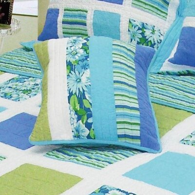 Ocean Patchwork Cotton Throw Pillow