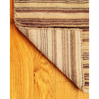 Wool Tabriz Brown/Tan Area Rug Rug Size: Rectangle 4' x 6'