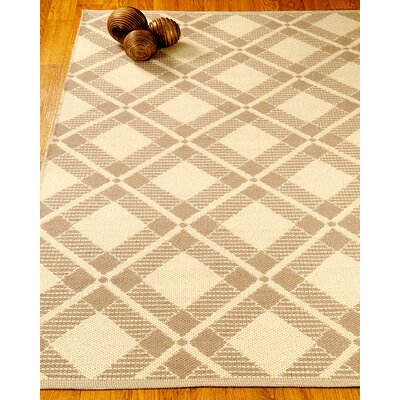 Whimsy Dhurrie Beige/Tan Area Rug Rug Size: Rectangle 4 x 6