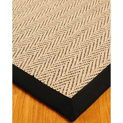 Jute Emerson Cream / Black Area Rug Rug Size: Rectangle 6 x 9