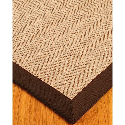 Wool Emblem Cream / Brown Area Rug Rug Size: 8 x 10