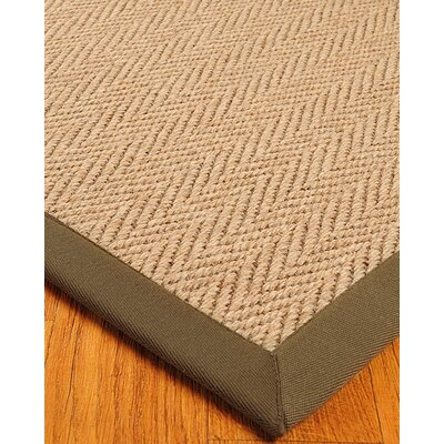 Jute Beige Area Rug Rug Size: Rectangle 8 x 10