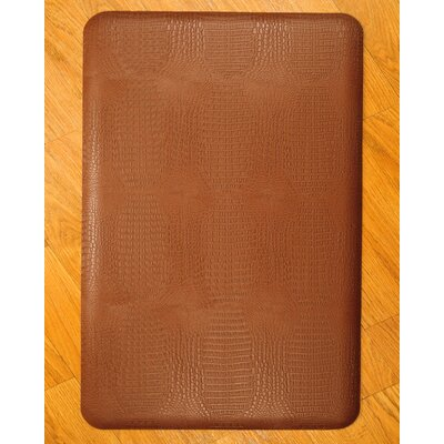 Anti-Fatigue Safari Kitchen Mat Color: Brown