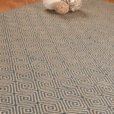 Jute Cream / Blue Recife Area Rug Rug Size: Rectangle 9 x 12