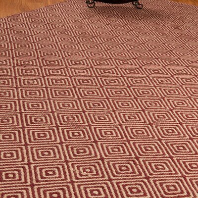 Jute Retro Cream / Red Area Rug Rug Size: Rectangle 9 x 12