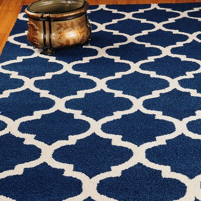 Radiance Blue Area Rug Rug Size: Rectangle 6 x 9