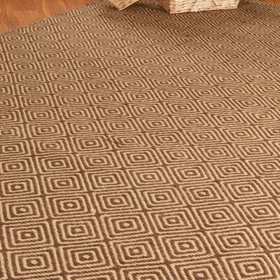 Jute Cream / Brown Realm Area Rug Rug Size: Rectangle 6 x 9