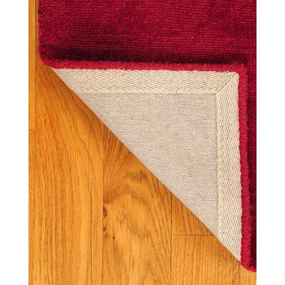 Wool Granada Red Area Rug Rug Size: Rectangle 6' x 9'