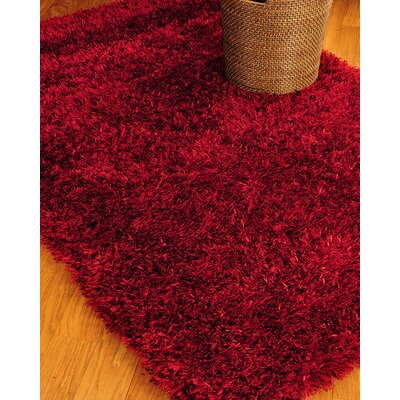 Shag Red Carnation Rug Rug Size: Rectangle 6 x 9