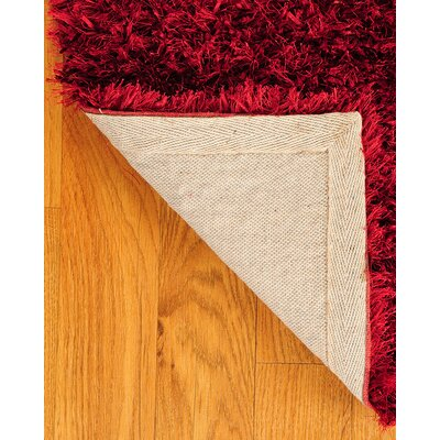 Shag Red Carnation Rug Rug Size: Rectangle 8 x 10