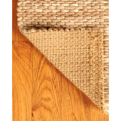 Jute Garnet Wool Beige Area Rug Rug Size: Rectangle 6 x 9