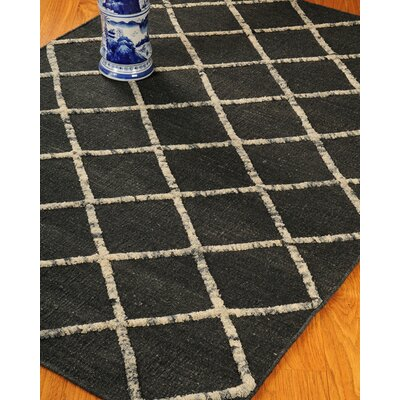Centre Black Geometric Indoor Rug Rug Size: 4 x 6