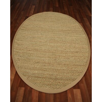 Half Panama Tan Solid Area Rug Rug Size: Round 5