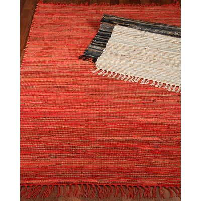 Concepts Handmade Red Area Rug Rug Size: Rectangle 8 x 10
