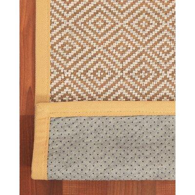 Sahara Bamboo Rayon Brown Area Rug Rug Size: 7 x 10