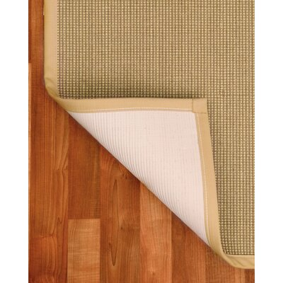 Crossroads Hand-Woven Beige Area Rug Rug Size: Rectangle 4 x 6