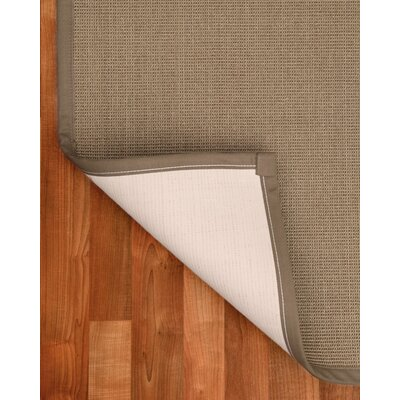 Sisal Dalton Brown Area Rug Rug Size: Runner 26 x 8