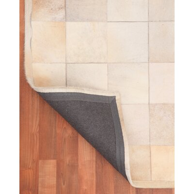 Cowhide Patchwork Alberta Beige Area Rug Rug Size: Rectangle 8 x 10